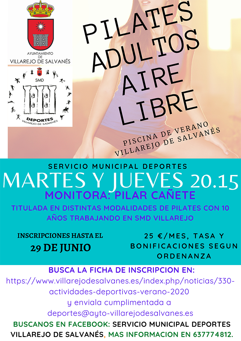 CARTEL PILATES JULIO